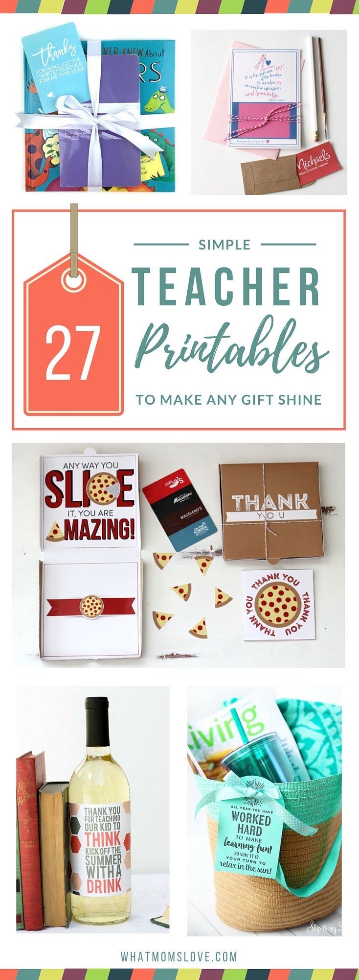 We've rounded up the best DIY Printables to personalize your Teacher Appreciation or End-of-Year Gift. A perfect way to thank that special teacher.