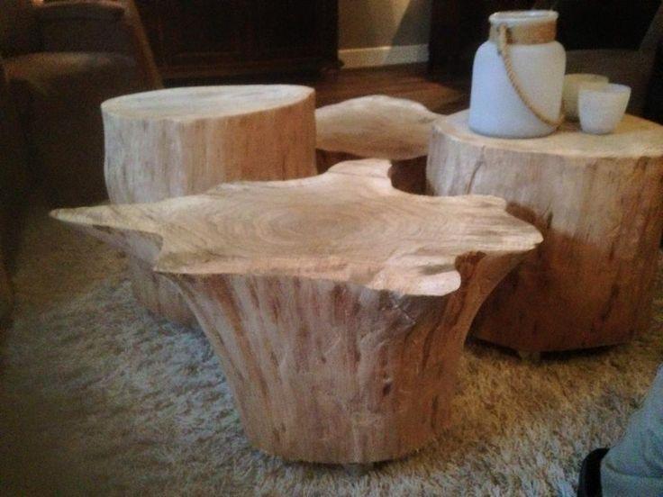 Wauw prachtige boomstamtafel voor al uw stoere meubels for Boomstam decoratie