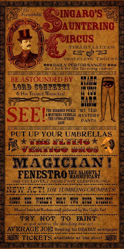 Circus Poster from Tirahvaalta