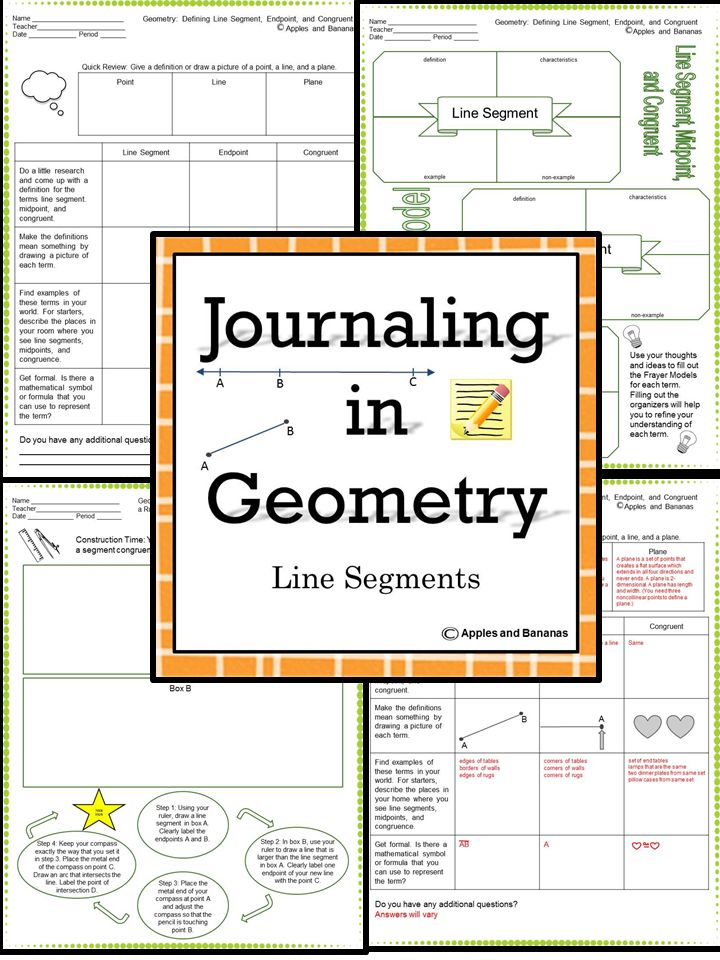 36 best projects to try images on pinterest geometry school and journaling in geometry line segments note taking sheets with teacher answer keys fandeluxe Image collections