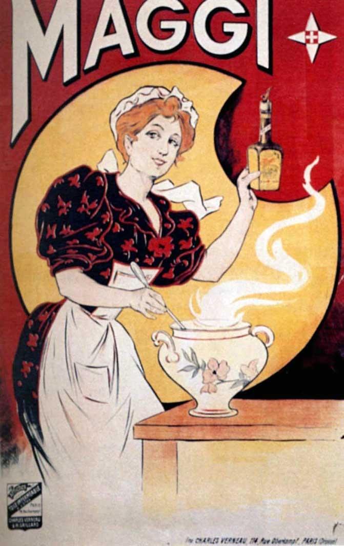 1894 Eugène Ogé Maggi, affiche lith. en couleurs, 120x80 cm