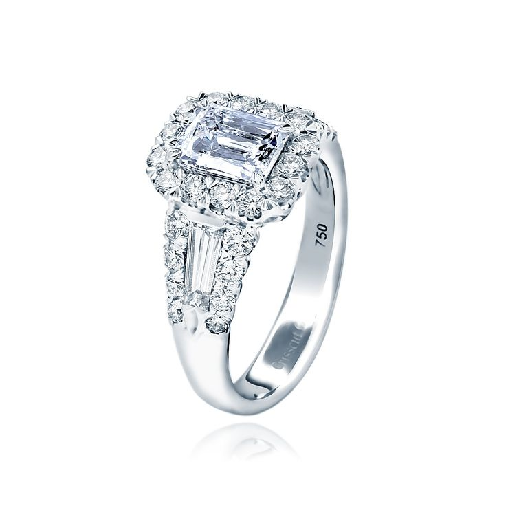 Christopher Designs Crisscut Diamond Engagement Ring. $15,750.
