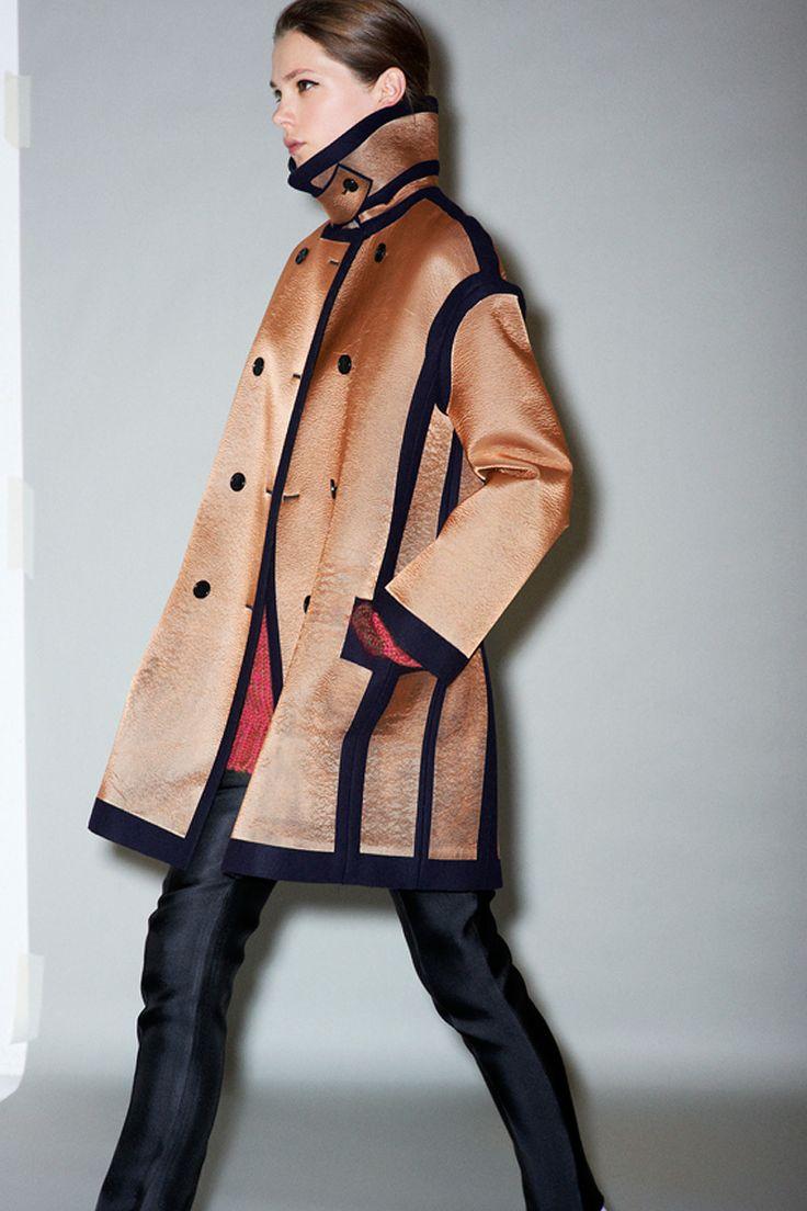 Céline Pre-Fall 2011 - Review - Collections - Vogue: Prefal 2011, Near Fal 2011, Phoebe Philo, Fashion Week, Céline Prefal, 201112 Women, Celine Coats, Black Pants, Fall 2011