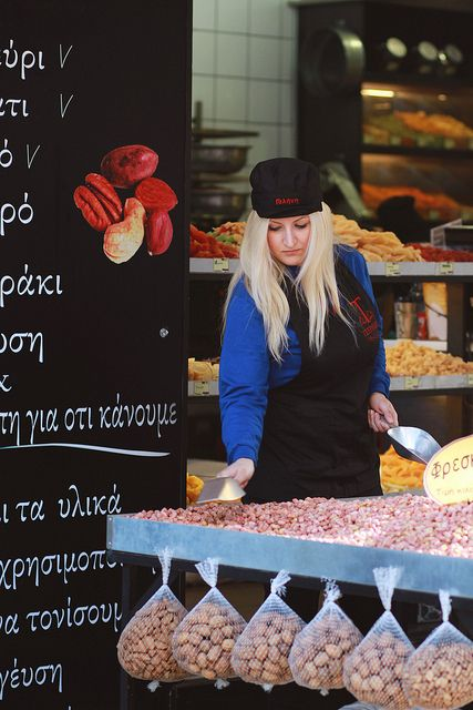 At the market, Thessaloniki, Greece