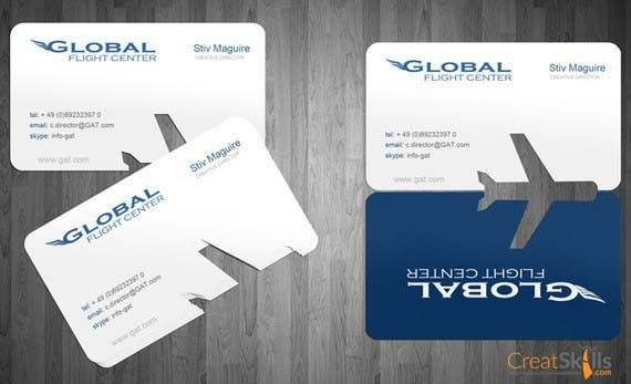 40 best business card inspirations images on pinterest business simple die cut detail on these business cards intriguing enough you want to unfold it then you see the airplane reheart Image collections