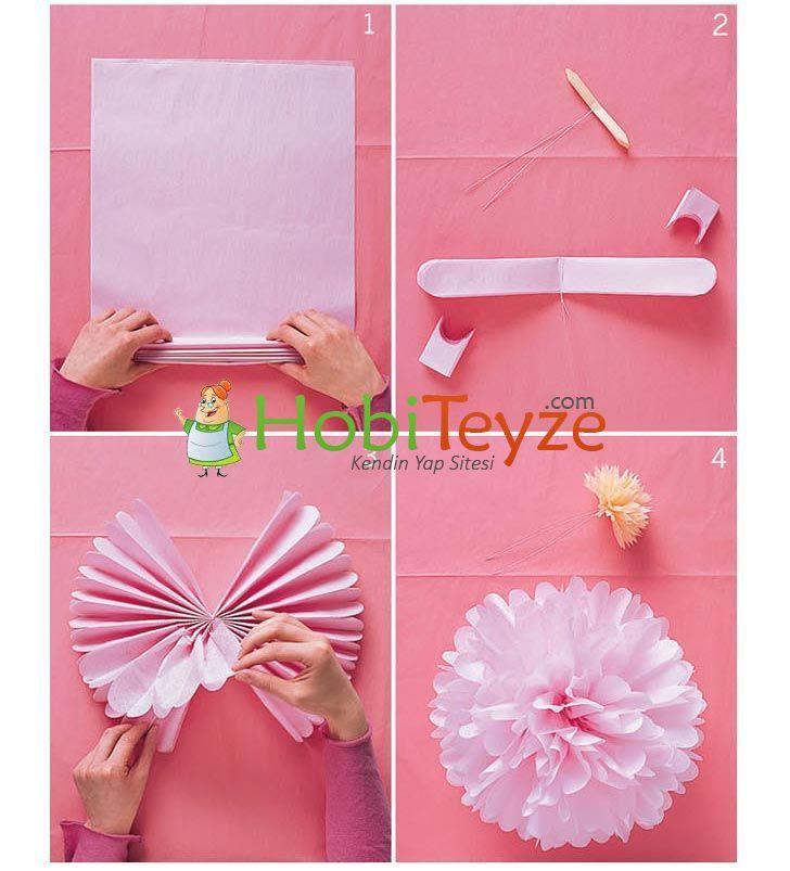 Peçeteden Süper Çiçek Yapımı HobiTeyze.com | Kendin Yap Sitesi | HobiTeyze.com | Kendin Yap Sitesi