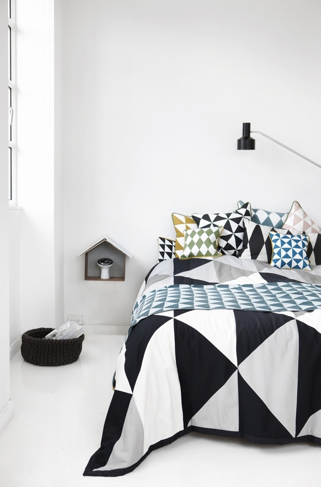 Large Geometry Curry from ferm LIVING. #design #interior #bedroom