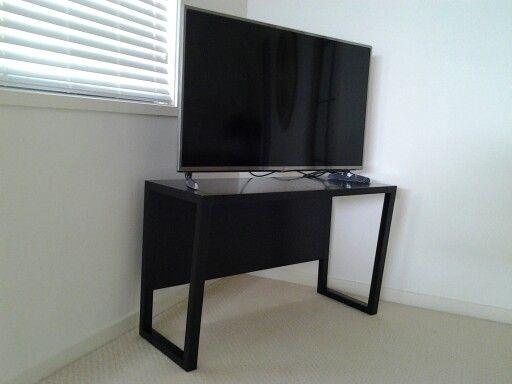 TV unit in black japan finish, Peregian springs QLD