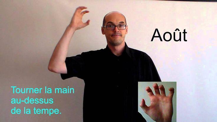 Les mois de l'année en langue des signes.