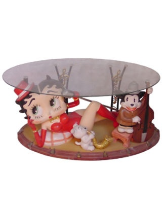 Betty Boop Coffee Table Furniture Decor Unique BB1435