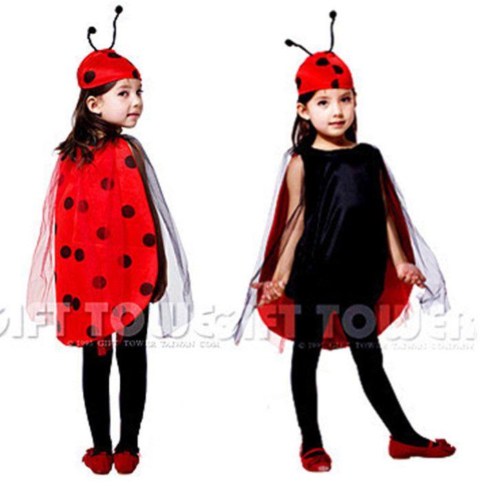 S~l!! Chegada nova linda fantasia joaninha vermelha crianças cosplay hallowean…
