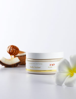 Pure Fiji Body Butter - Coconut Milk & Honey  Pure Fiji Product  Tropical, Natural, Organic Body Care