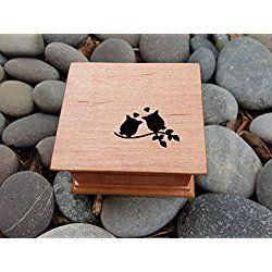 Music box, custom made music box, handmade music box, owls, owl, love owls, wooden gifts, boxes, wooden boxes, wooden music boxes, simplycoolgifts