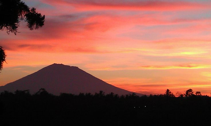 Sunrise from our villa in Bali
