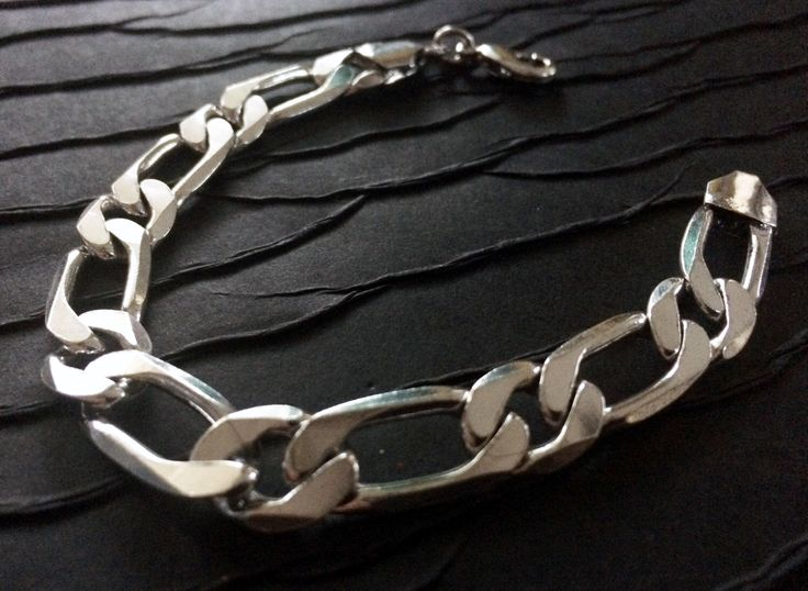 Men's Silver chain bracelet,Fine Link Chain Bracelet,Cuff,Men's Jewelry,Silver bracelet,man bracelet,Modern style by Taneesi by taneesijewelry on Etsy https://www.etsy.com/listing/259340280/mens-silver-chain-braceletfine-link