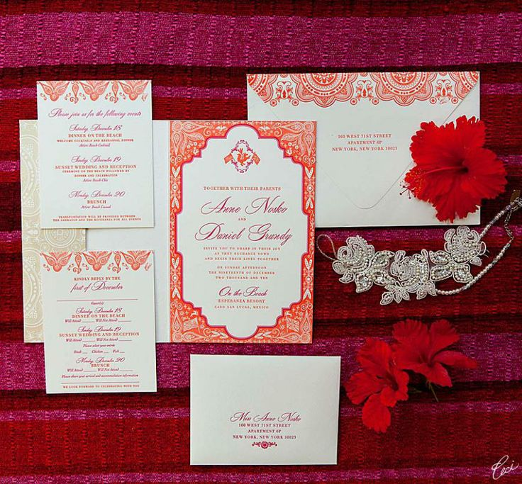 lotus flower wedding invitations%0A Wildcard Wednesday  Happy Birthday Ceci New York   Red Wedding  InvitationsInvitesMexico