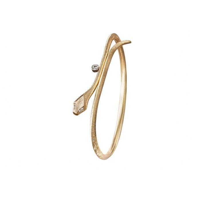 Snakes bracelet in 18K yellow gold and diamonds TW.VS - Bracelets | OLE LYNGGAARD COPENHAGEN