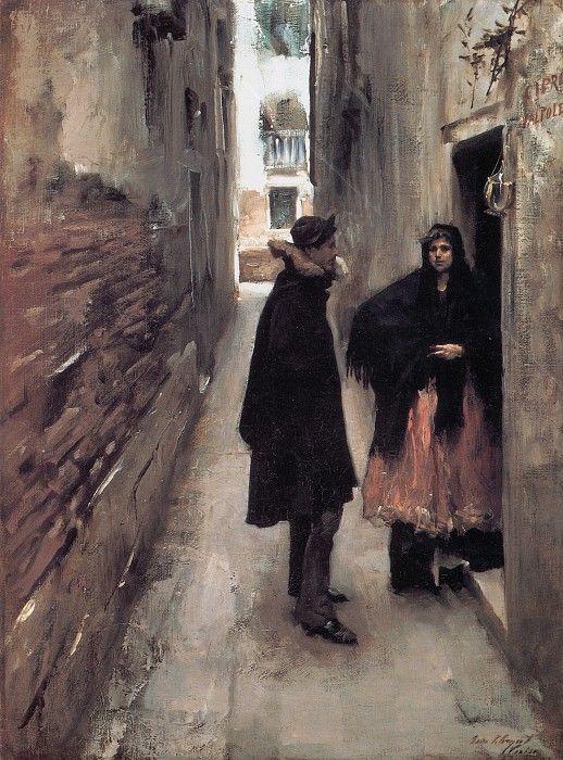 Street in Venice 1880-1882. Джон Сингер Сарджент