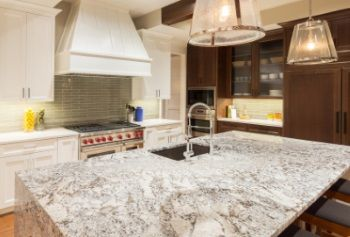 Visit our showroom to compare quartz, granite, marble, quartzite, and other materials in person