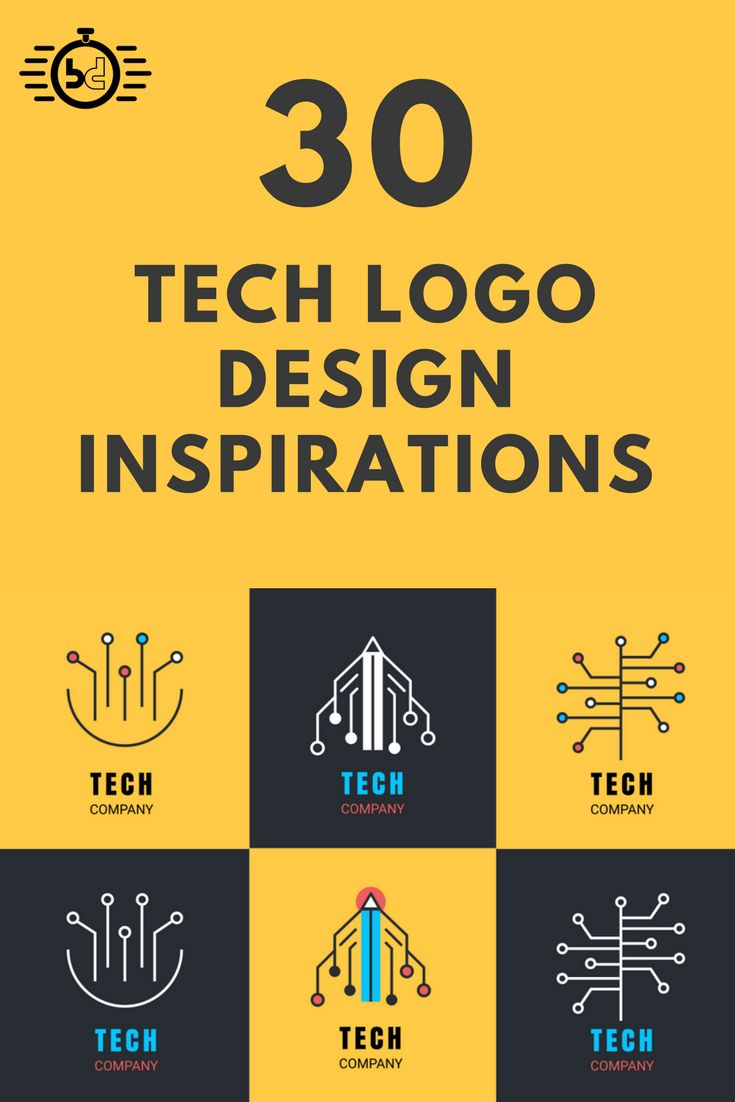 Beautiful tech logo design inspirations for your tech startup. Best logo design inspirations, flat logo designs.