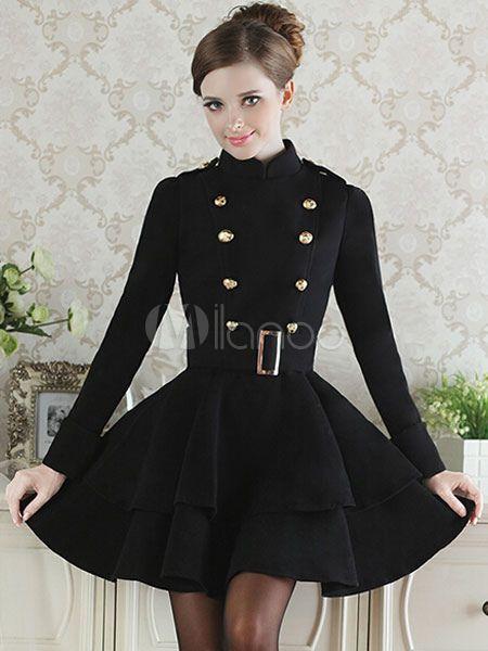 Vestido de la llamarada brasted doble - Milanoo.com