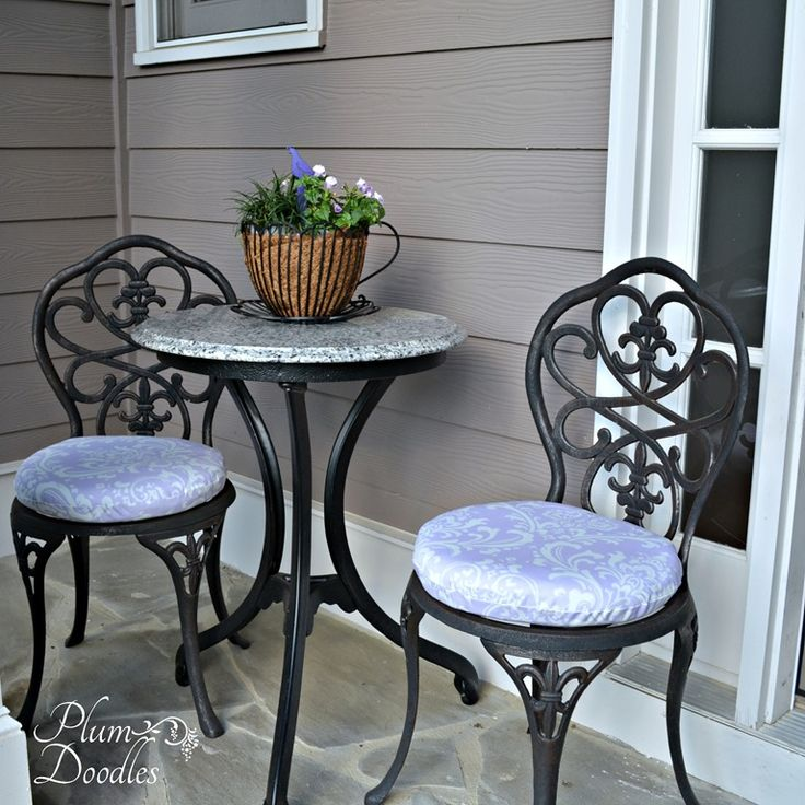 DIY Round Chair Cushions Made Simple