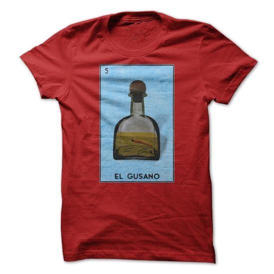 La Loteria - El Gusano (The Worm) T-Shirt Hoodie Sweatshirts auu. Check price ==► http://graphictshirts.xyz/?p=61490