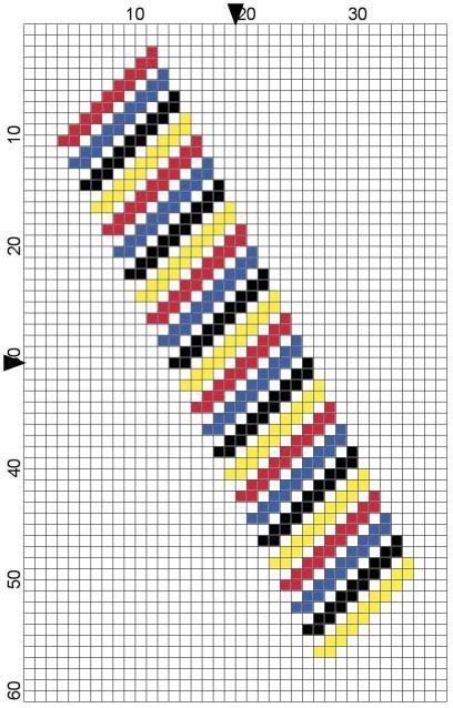 Simple cute bookmark made on the bias / diagonally