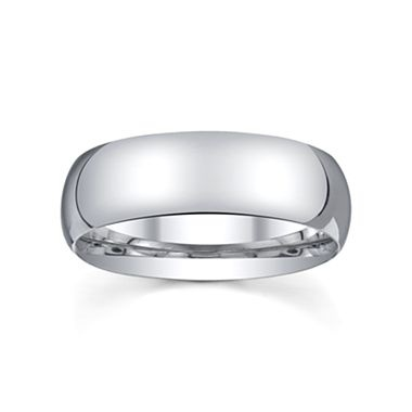 Fabulous Womens mm Silver Domed Wedding Band Ring jcpenney