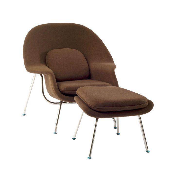 brown modern w lounge chair chairs chaises u0026 ottomans living room
