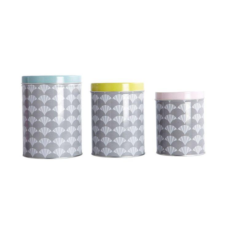 Tin Oppbevaringsboks 3-Pack, House Doctor