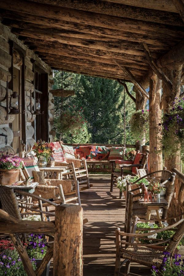 202 best images about cabin decks porches on pinterest for Rustic porches and decks
