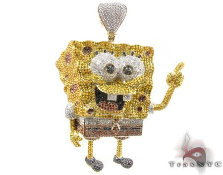 35 best custom lab diamond hiphop bling character pendant images on a diamond sponge bob i realize it is supposedly a cult aloadofball Images