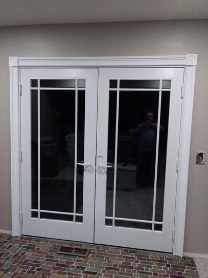 Evermark 1 1 16 In X 3 1 2 In X 84 In Primed Pine Finger Jointed Casing Set 5 Piece 309 600c The Ho French Doors Faux Window Panes Double Doors Interior
