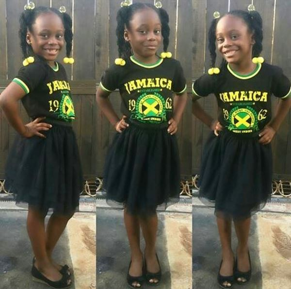 Definitely feeling herself in her Jamaica Day outfit