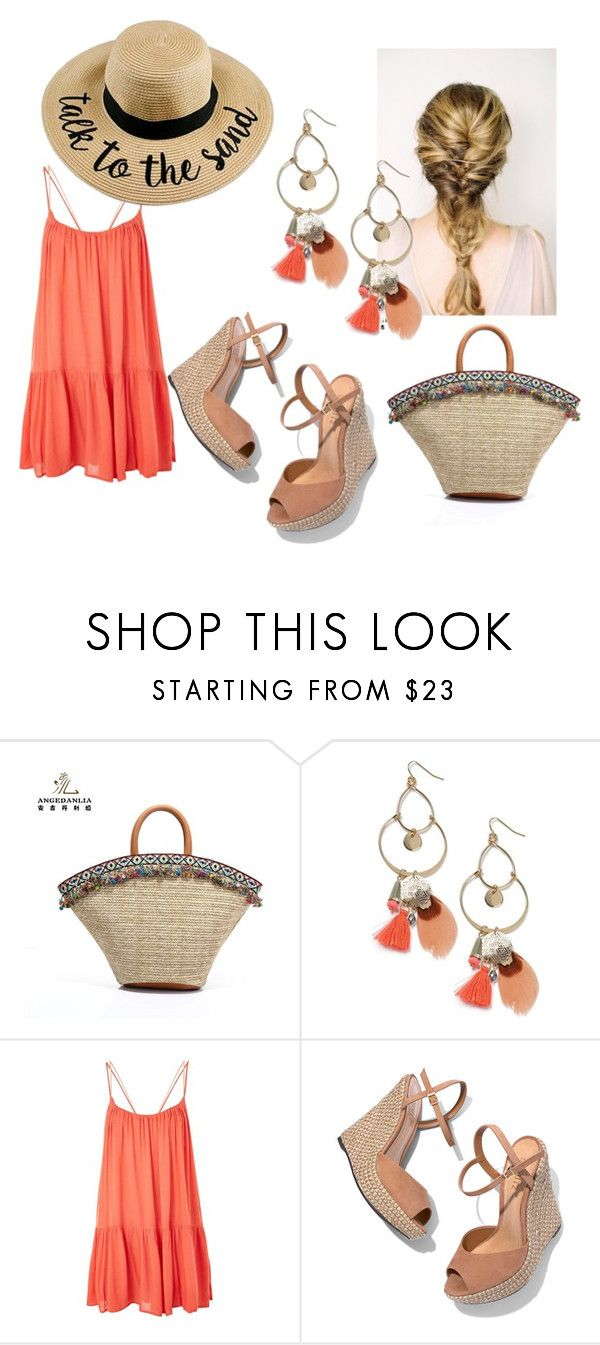 A walk on the beach by patsilvarte-blog on Polyvore featuring Topshop, Schutz and Miss Selfridge  #summer #beach #outfit