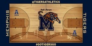 The fans chose this design for the University of Memphis Tigers men's basketball court at FedExForum next season.