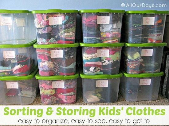 Sorting and Storing Kids Clothes @Allyson @ All Our Days.com