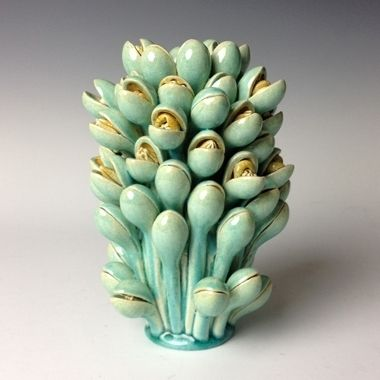 Kate Malone: Turquoise Snap-Dragon Vase