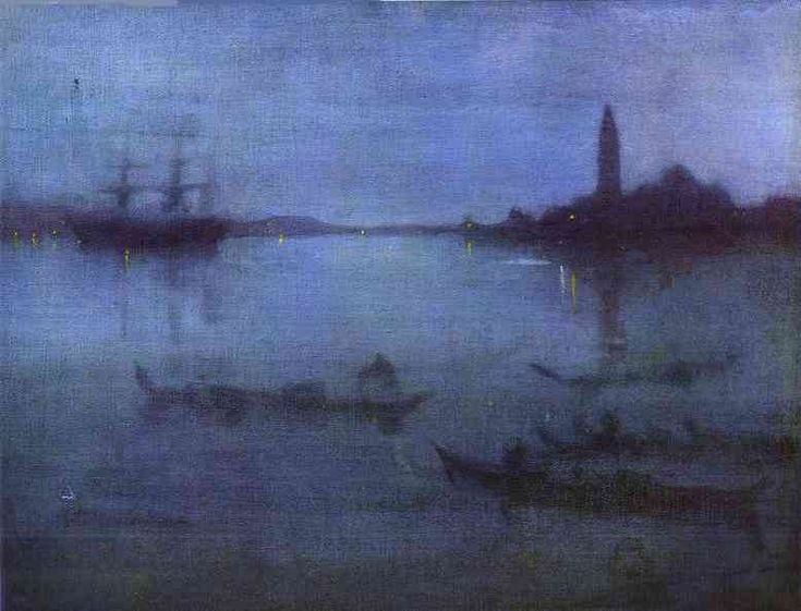 James Abbott McNeill Whistler >> Nocturne in Blue and Silver; The Lagoon, Venice