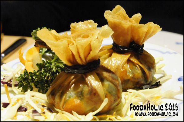 Aumônières de noix de Saint-Jacques / www.foodaholic.ch