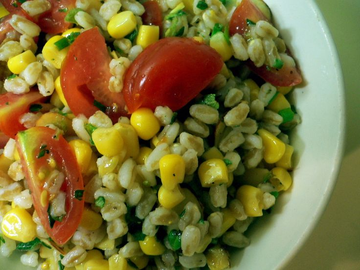 Farro Salad With tomatoes and corn