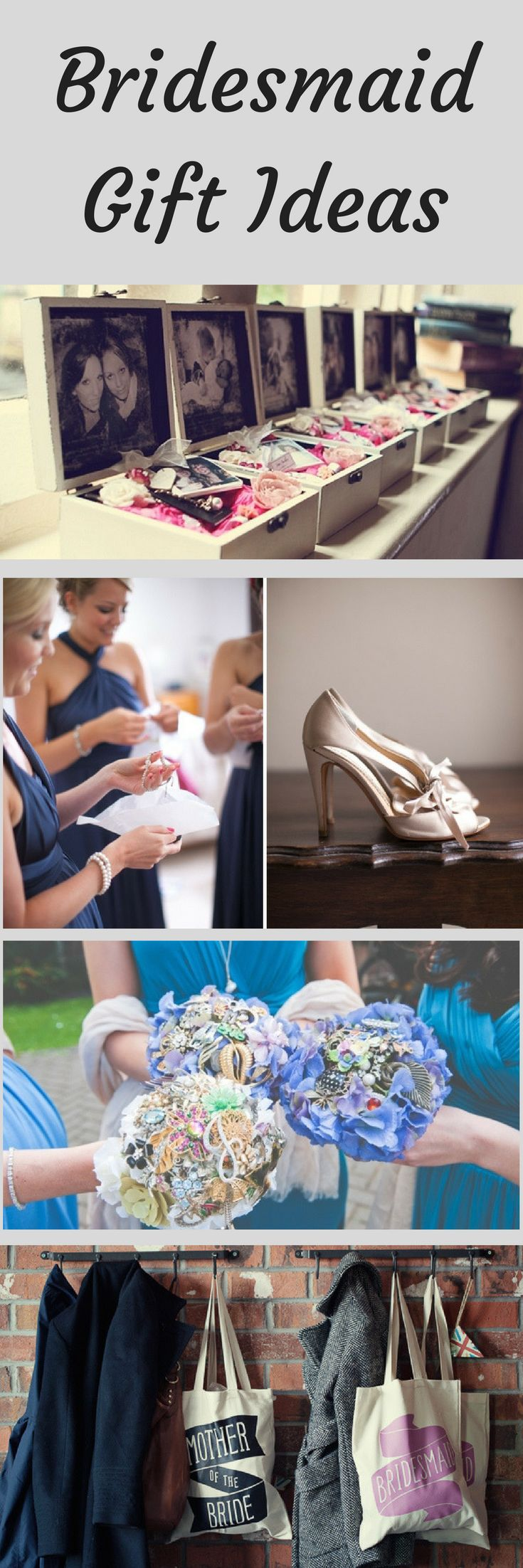 It's a nice gesture to give your bridesmaids a gift before the wedding; a token of appreciation for supporting you and helping you plan your big day. Check out these thoughtful bridesmaids' gifts to suit any budget or style. #weddinginspiration
