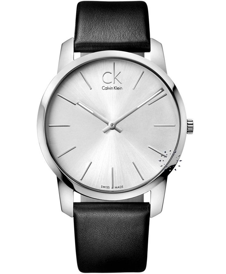CALVIN KLEIN City Black Leather Strap Η τιμή μας: 170€ http://www.oroloi.gr/product_info.php?products_id=33104