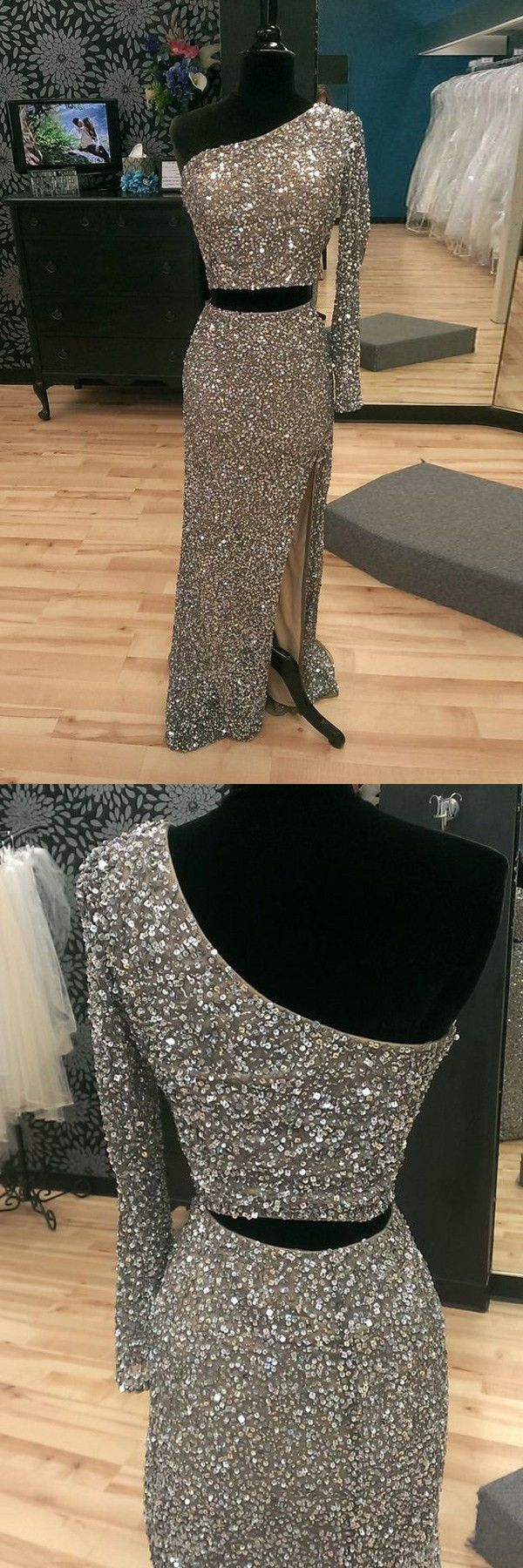 2017 prom dress,long prom dress,one-shoulder prom party dresses,sparkling prom party dresses,elegant evening gowns,fancy one-shoulder prom party dresses,women fashion,chic fashion
