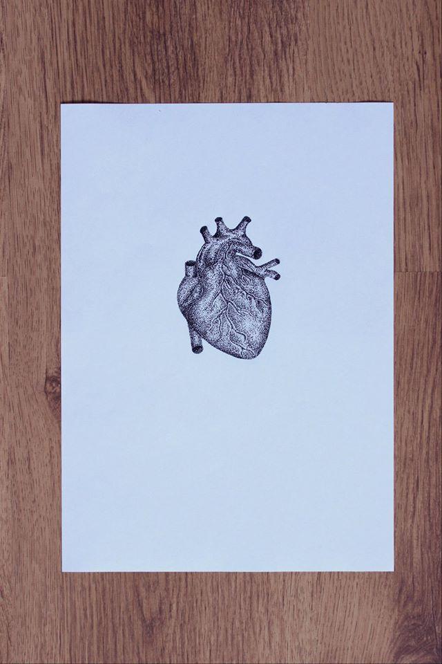 heart dotwork anatomy
