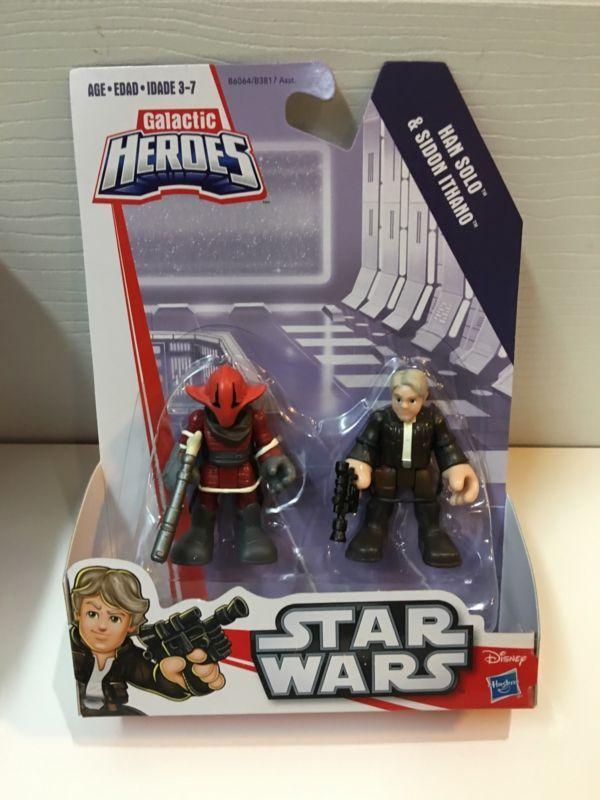 Playskool Galactic Heroes Star Wars BB-8 Poe Dameron Han Solo Sidon Ithano