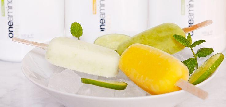 Svalkande isglass gjord på BCAA, färsk frukt och örter.    Päron och lime…