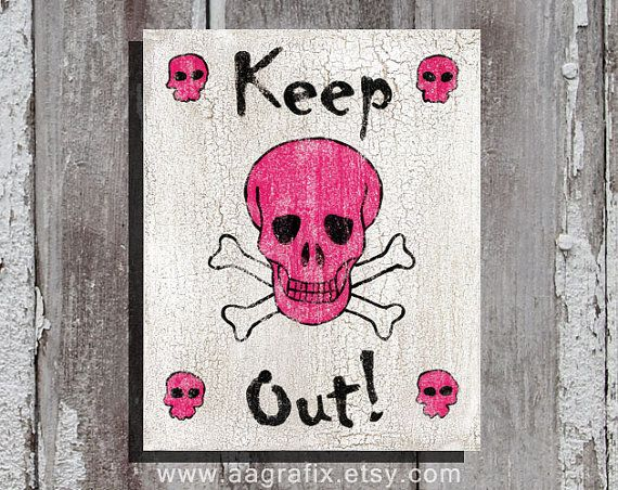 keep out poster teen room decor bedroom ideas
