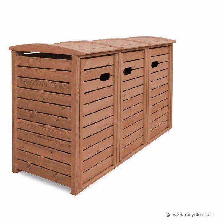 3er m lltonnenbox standard fsc holz 1 x 120 240 liter garten pflanzen pinterest 1. Black Bedroom Furniture Sets. Home Design Ideas